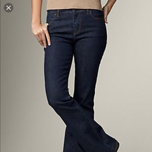 New Talbots boot cut jeans size 26/2